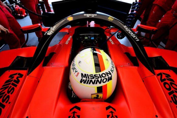 Last car is on the grid Ferrari
