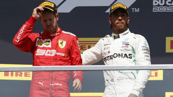 Hamilton sfotte Vettel, o per lo meno ci prova…
