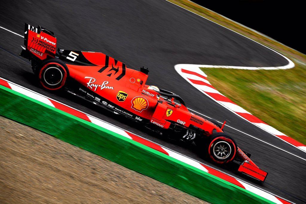 Vettel a Suzuka fa la danza della pioggia
