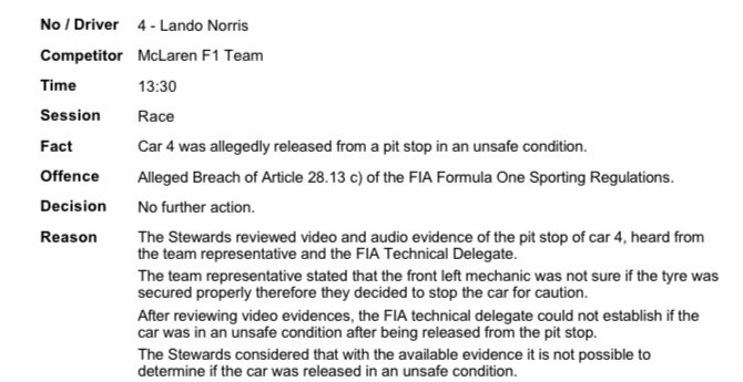 Verstappen e la sacrosanta penalità