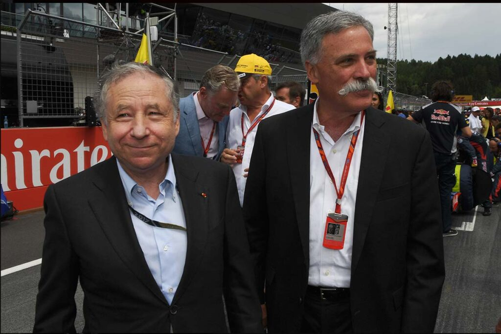 Chase Carey e Jean Todt