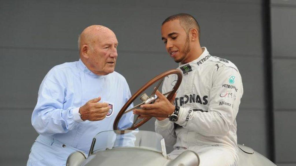 Lewis Hamilton e Stirling Moss
