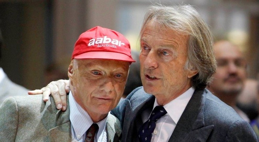 Niki Lauda e Luca Cordero di Montezemolo