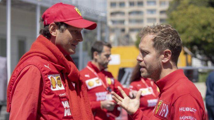 John Elkann e Sebastian Vettel