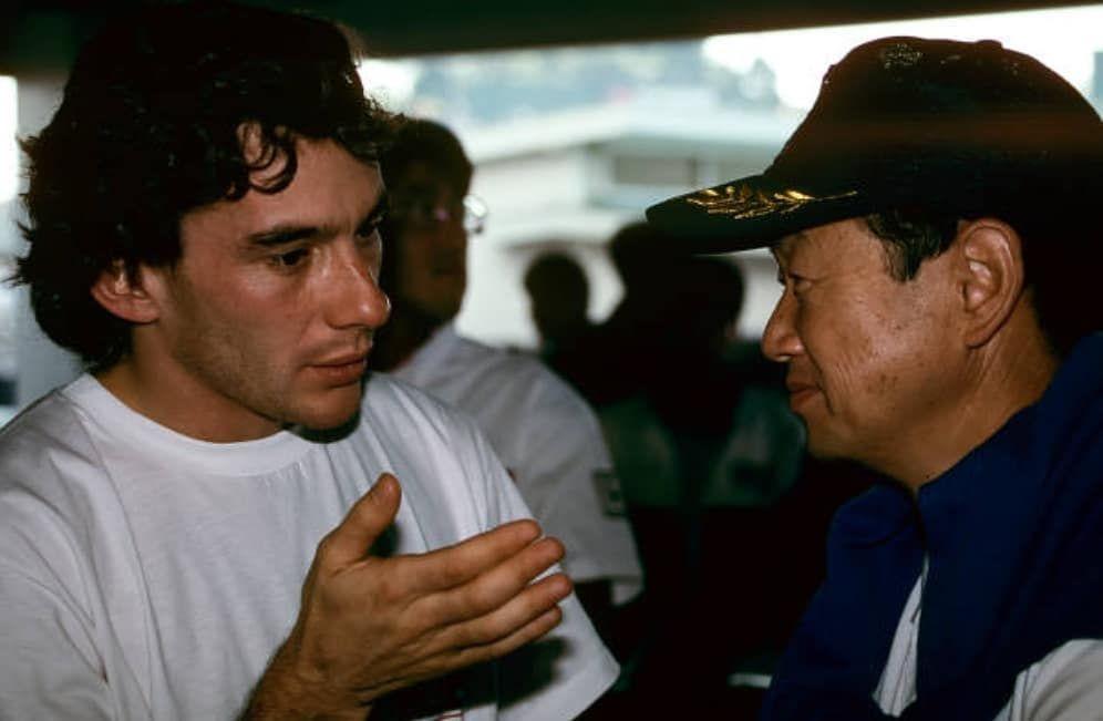 Ayrton Senna e Nobuhiko Kawamoto