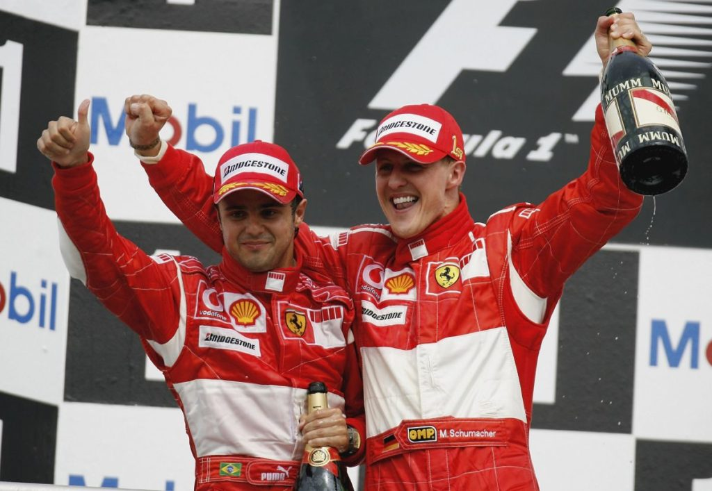 Michael Schumacher e Felipe Massa