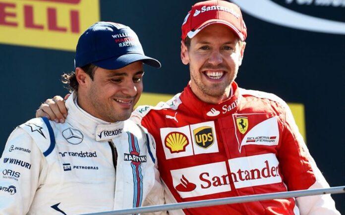 Felipe Massa e Sebastian Vettel