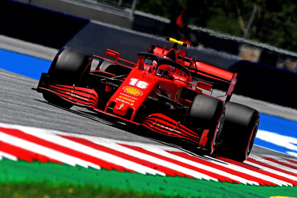 Charles Leclerc alla guida della Ferrari SF1000 al Red Bull Ring