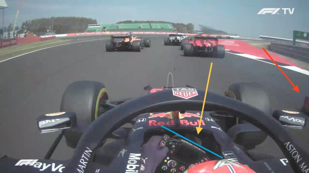 nalisi on board Vettel-Gp 70º Anniversario