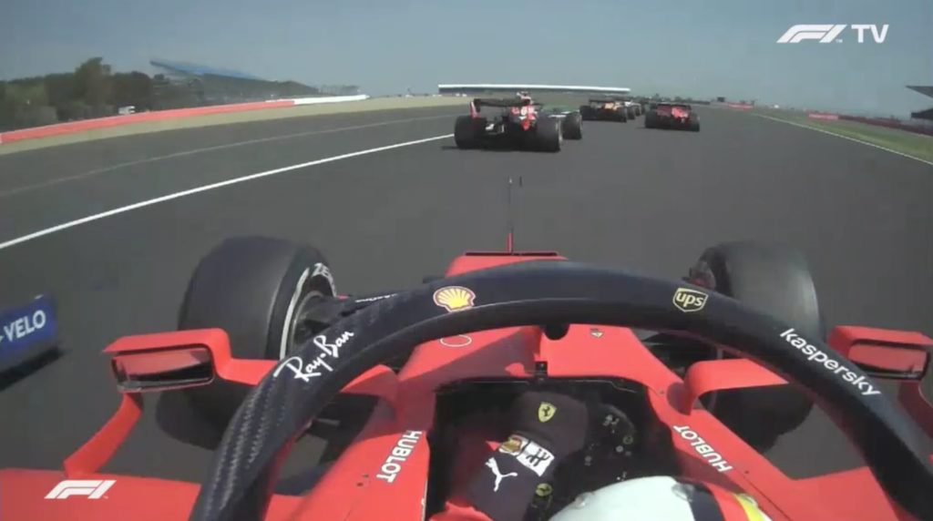 Analisi on board Vettel-Gp 70º Anniversario