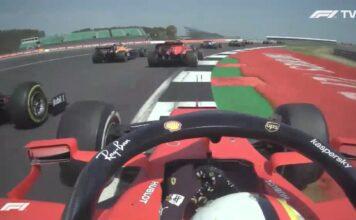 nalisi on board Vettel-Gp 70º Anniversario