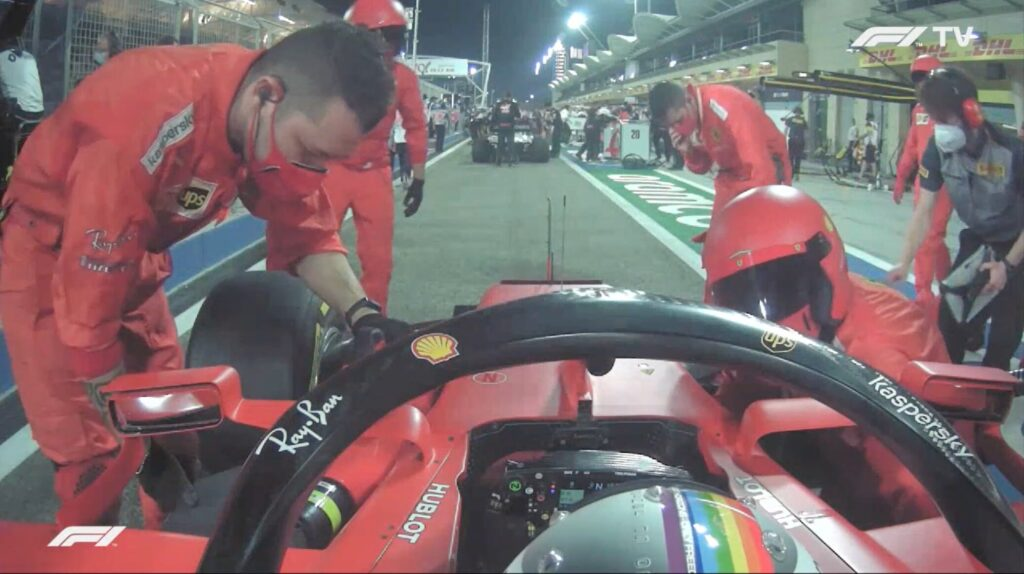 Analisi on board Vettel-Gp Bahrain 2020