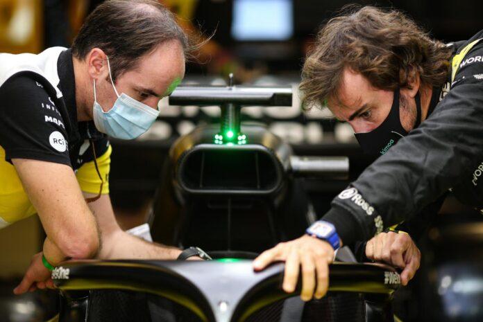 Alpine prepara la vettura per Alonso: