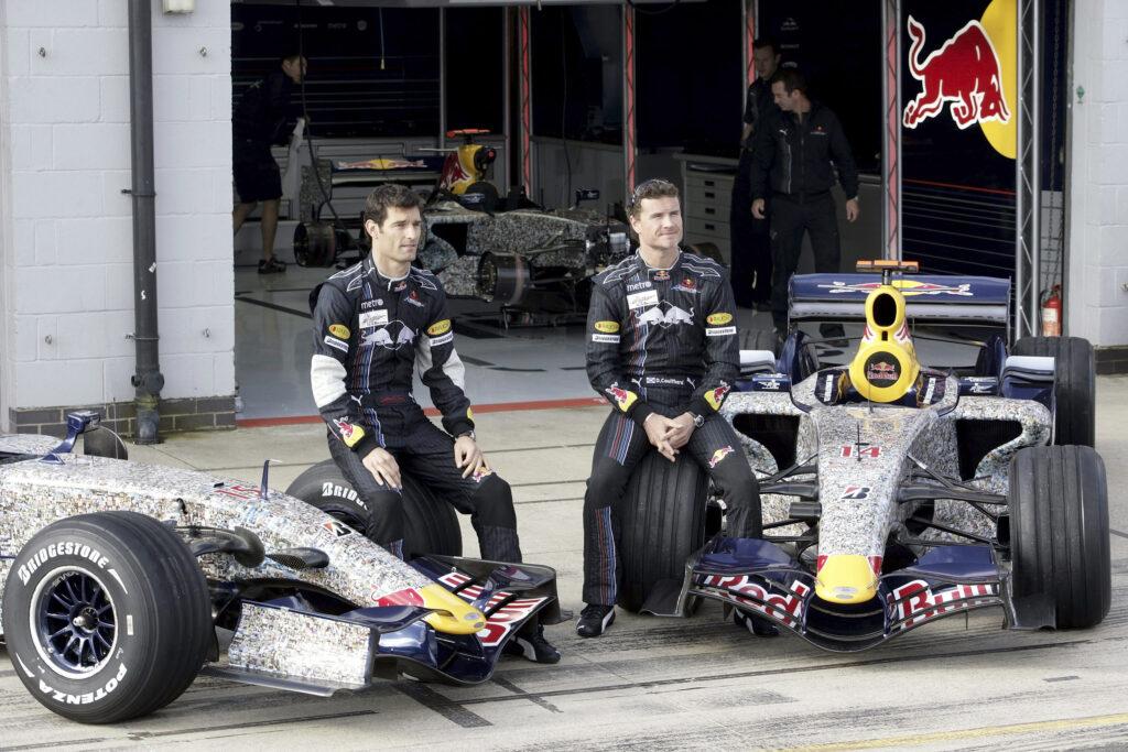 Mark Webber e David Coulthard in Red Bull