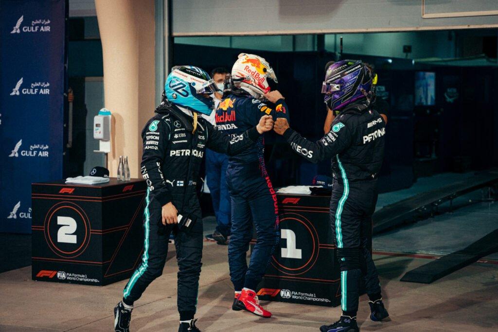 Hamilton (Mercedes), Bottas (Mercedes), Verstappen (Red Bull), GP Bahrain 2021 - I numeri del fine settimana