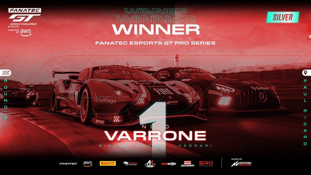Esports Fanatec GTWC Pro Series – Van Der Linde vince in una caotica Paul Ricard